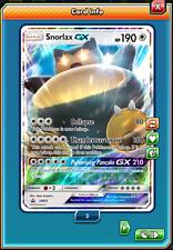 RA Promo Snorlax-GX Regular Art Pokemon TCG ONLINE ( PTCGO digital card )