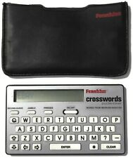 Franklin Handheld Crosswords Cw-40 Puzzle Solver w/ Protective Case & Battery