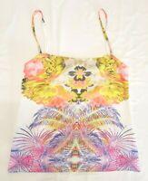 EUC Bec & Bridge Sz 8 Ladies Top Tank Singlet Cami Tropical Floral Print Summer