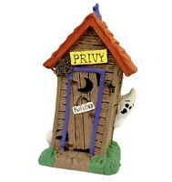 Midwest Of Cannon Falls Halloween Haunted Outhouse Ghost Village Accessory NIP