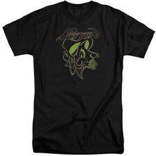 Poison Tall T-Shirt Cat Logo Black Tee