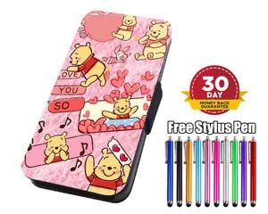 Disney Winnie The Pooh  LovelyFlip Leather Phone Case for iPhone Samsung Huawei