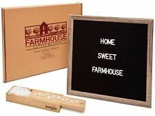 """12x12"""" Premium Changeable Felt Letter Board, 330 Characters & Wooden Storage Box"""