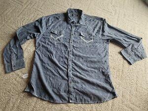 BKE Buckle Shirt Black Label Athletic Fit Blue Mens Size XXXL Long Sleeve 3XL