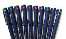 Luxor artiste fine écrivain Dessin Stylos Lot de 10 stylos assortis couleurs-le moins cher