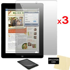 3 pack of Apple iPad 4 4th GEN CLEAR Screen Protector Guard & Cloth