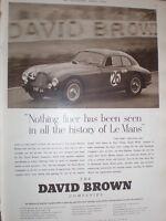 David Brown engineering Le mans Aston Martin advert 1952