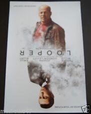 SDCC Comic Con 2012 LOOPER Movie promo poster Bruce Willis, Joseph Gordon-Levitt