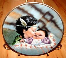 MARCH OF DIMES Gregory Perillo A TIME TO BE BORN BABY INDIAN CHILD PLATE