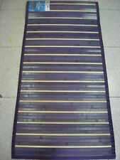 Tappeto di Bamboo legno cm. 55X230 VIOLA MODERNO 933 con antiscivolo 70%