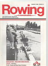 ROWING MAGAZINE - March 1986