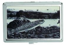 METAL FISH IN RIVER CIGARETTE CASE  silver tobacco cases NEW HOLDER trout cases