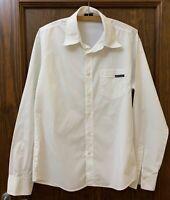 D&G Dolce & Gabbana white cotton men shirt long  sleeves size M