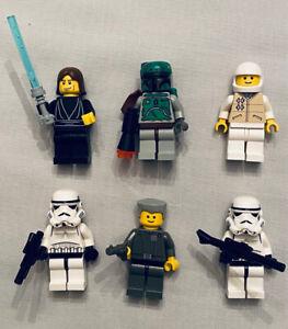 K Lego Star Wars Set of 6 figures: Boba Fett, Jedi Anakin, stormtroopers, more