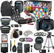 Canon EOS Rebel T7i DSLR Camera Deluxe Video Kit+ Accessory Bundle