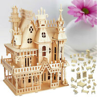 Kit de Construcción Carpintería Casa Muñecas Muebles 3D Modelo Puzle Niños Xma A