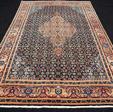 Orient Teppich Alt 330 x 220 cm Perserteppich Herati Dunkelblau Old Carpet Rug