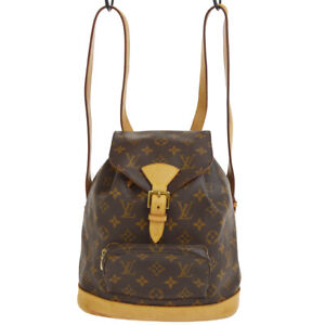 LOUIS VUITTON MONTSOURIS MM BACKPACK BAG PURSE MONOGRAM M51136 go AK31810i