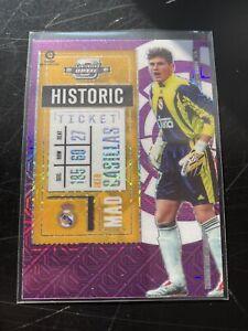 2020-21 Chronicles Contenders Optic Iker Casillas Historic Ticket #4 Purple Mojo