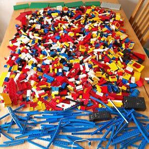 Vintage/Classic LEGO Job Lot 6KG, Basic, Trains, Fabuland Inc. Bases, Tracks Etc