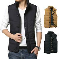 Fashion Men's Casual Jacket Vest Coat Winter Warm Down Cotton Waistcoat New