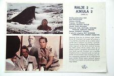 JAWS 2 ROY SCHEIDER LORRAINE GARY 1978 HORROR RARE EXYUGO MOVIE PROGRAM