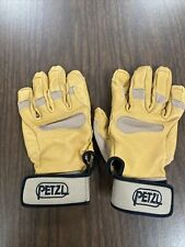 New Petzl Cordex Mid-Weight Belay/Rappel Leather Gloves Small Tan K53 Fast Rope
