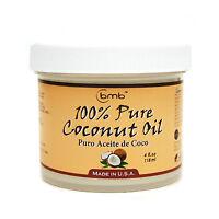 BMB 100% Pure Coconut Oil for Hair and Skin Puro Aceite De Coco 4 oz