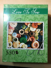 """Andrews and Blaine """"Love to Sew"""" Jigsaw Puzzle 550 Piece NEW SEALED 26"""" x 19"""""""