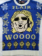 Mache Custom Kicks WWE Ric Flair Ugly Christmas Sweater Men's Small Blue NWT