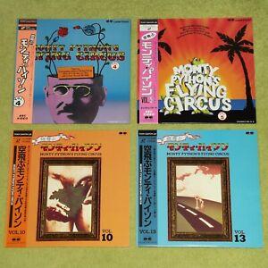MONTY PYTHON'S FLYING CIRCUS Vol. 4, 5, 10 & 13 - RARE JAPAN 4 x LASERDISC LOT