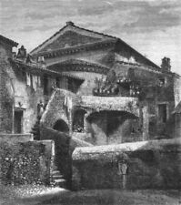 ROME. Behind San Crispino 1872 old antique vintage print picture