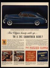 1942 PACKARD CLIPPER Special Club Blue Sedan - Car - VINTAGE AD