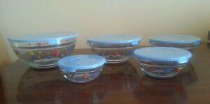 Decorative Glass bowl Nesting set of 5