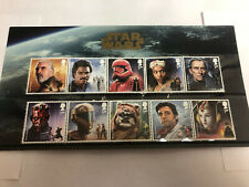 GREAT BRITAIN 2019 STAR WARS Character Stamp SET OF 10