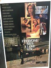 Woody Allen, Edward Norton, Natasha Lyonne & Billy Crudup signed 11x17 Poster.