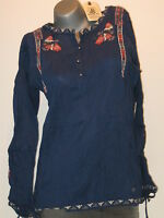 REPLAY femmes Blouse tunique taille S (36/38) Bleu NEUF w2615