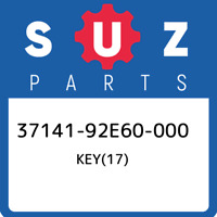 37141-92E60-000 Suzuki Key(17) 3714192E60000, New Genuine OEM Part