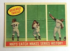 1959 Topps Willie MAYS' Catch Makes Series History #464 San Francisco Giants