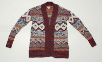 nWT Mossimo Womens Patterned Sweater Cardigan Multi-Color XS 11894