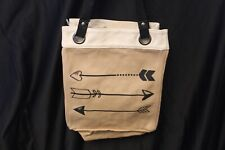 Thirty One *Retired* CANVAS STORAGE TOTE ~ARROWS~ hard to find/rare New!