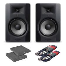 """2x M-Audio BX8 D3 8"""" Active Studio Monitors (Bundle 2)"""