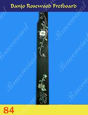 Free Shipping, Banjo Part - Rosewood Fretboard w/MOP Art Inlay (G-84)