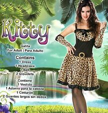 New Womens Plus Size 2X (16-18-20) Kitty Cat Kitten Complete Costume Party Dress