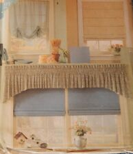 8353 Simplicity Window Dressing Treatment Curtains Roman Shades Valance Swag