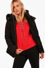 Manteaux et vestes parkas noire en fourrure pour femme