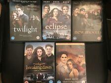 Twilight DVD Bundle x 5 DVDs Twilight,Eclipse,New Moon, Breaking Dawn 1 & 2