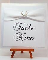 "Wedding Table Numbers 6""x6"""