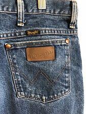 Vintage Wrangler Texas Jeans Straight Leg Zip Fly Blue 38x30 936PWD GUC