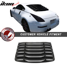 Fits 03-08 Nissan 350Z IKON Matte Black Rear Windshiled Louvers Cover ABS
